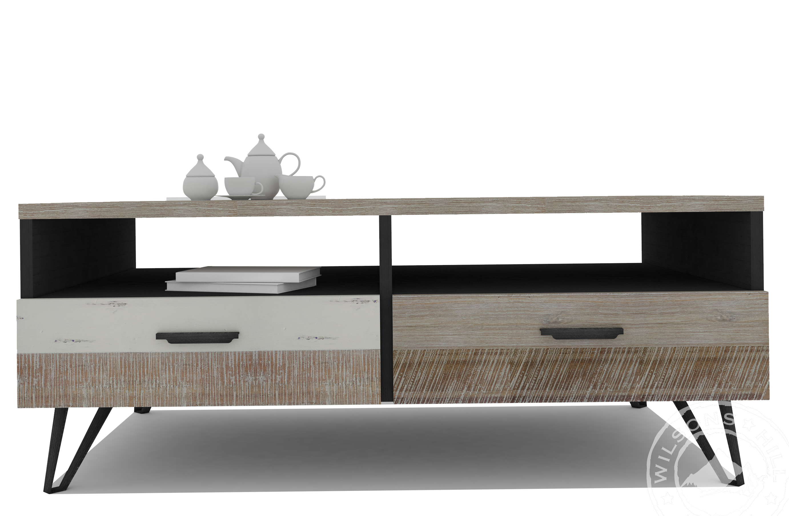 Oslo (Coffee Table 2Drws, 2Niches)