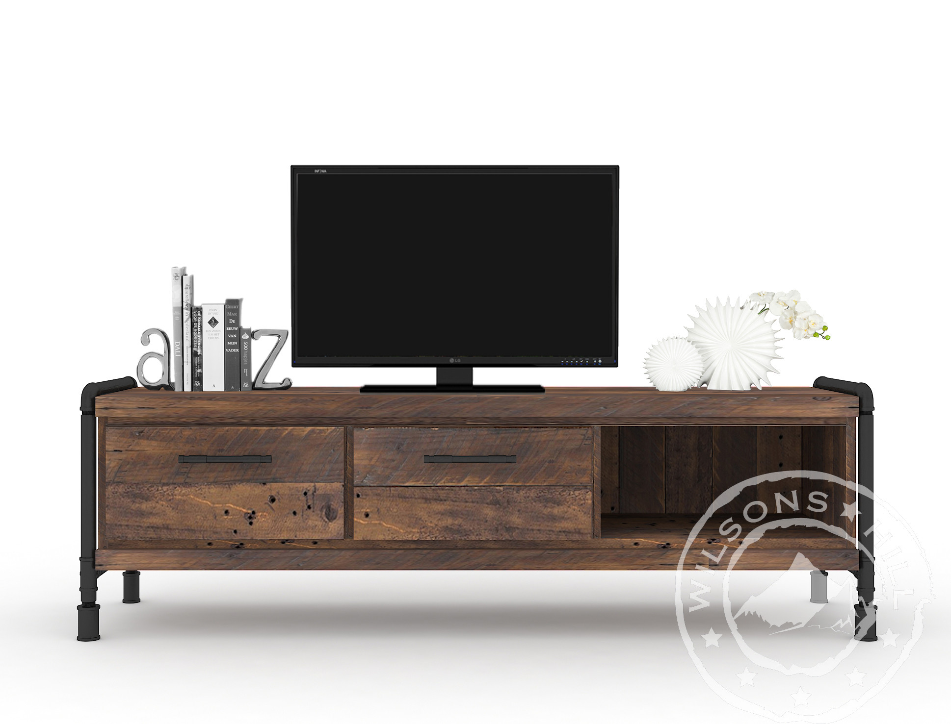 Bourbon (TV cabinet 2drws, 2niches)