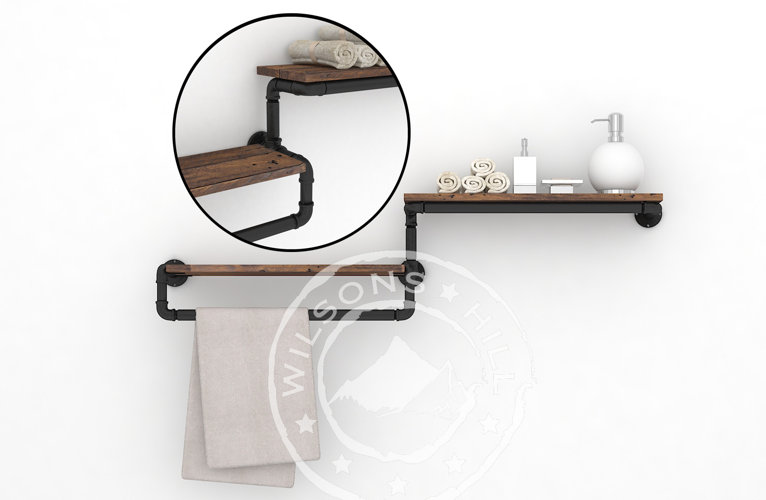 Bourbon (Towel rack)
