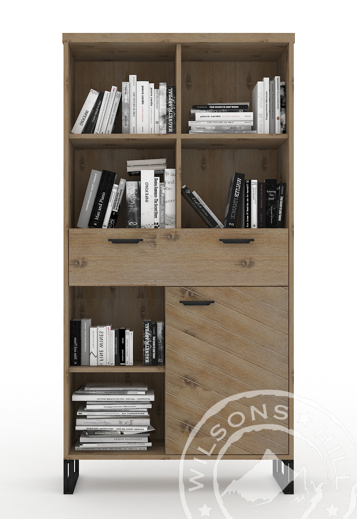 Montana (Bookcase 1dr, 1drw, 6 niches)
