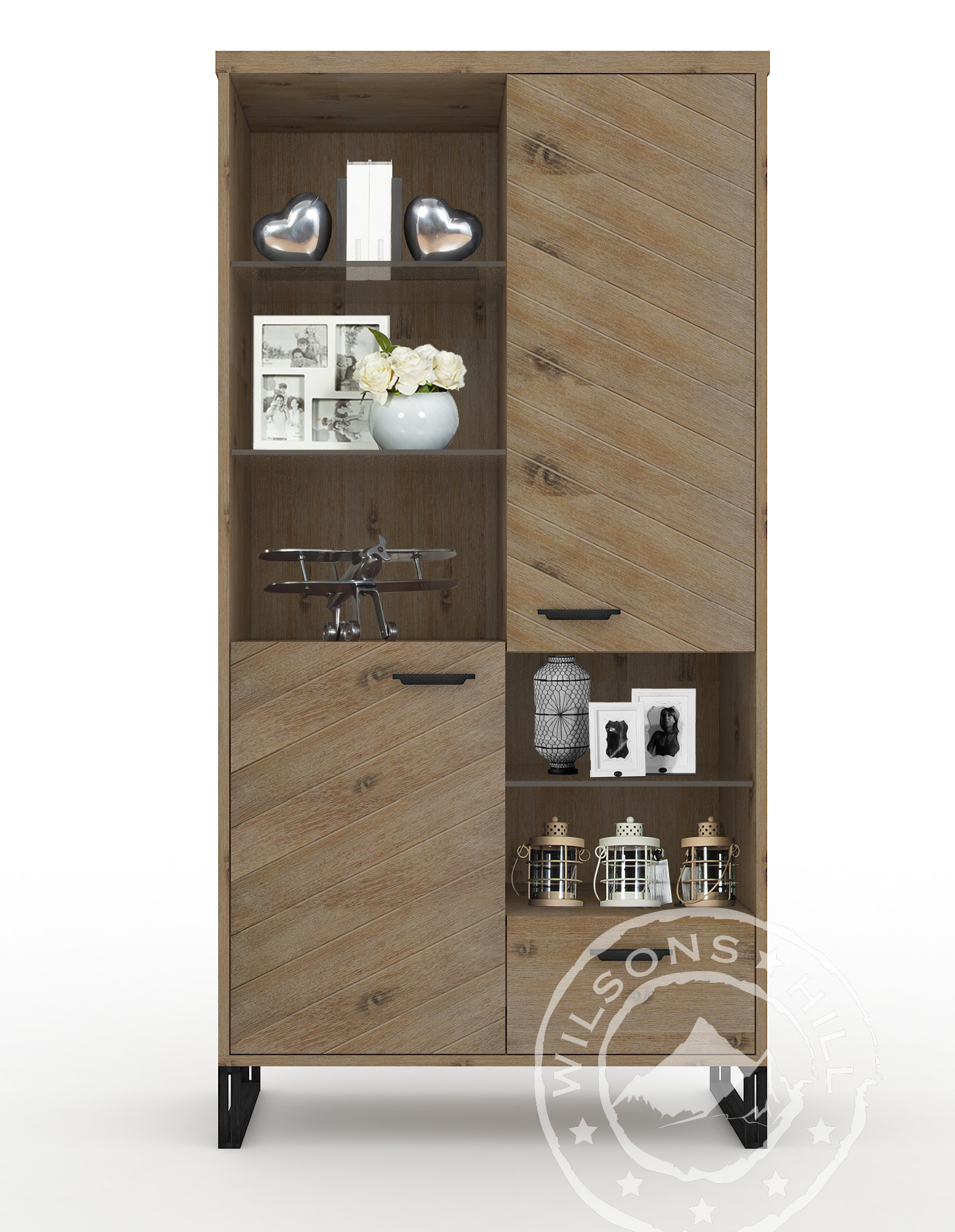 Montana (Highboard 2drs, 1drw, 5niches)