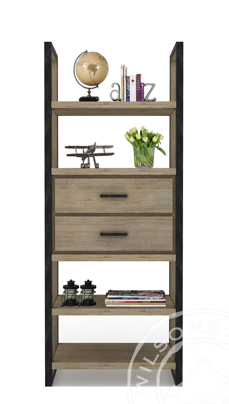 Zara (Bookcase 2drws 4 Shelves)