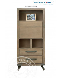Cooper (Desk bar 1 clapping door, 2 drawers, 3 niches)