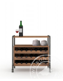 Safari (Wine Cabinet 3niches, 1shelve)
