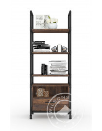 Bourbon (Bookcase 1drw, 5niches)